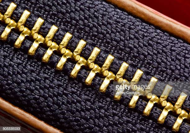 detail of zipper - gold purse stock pictures, royalty-free photos & images