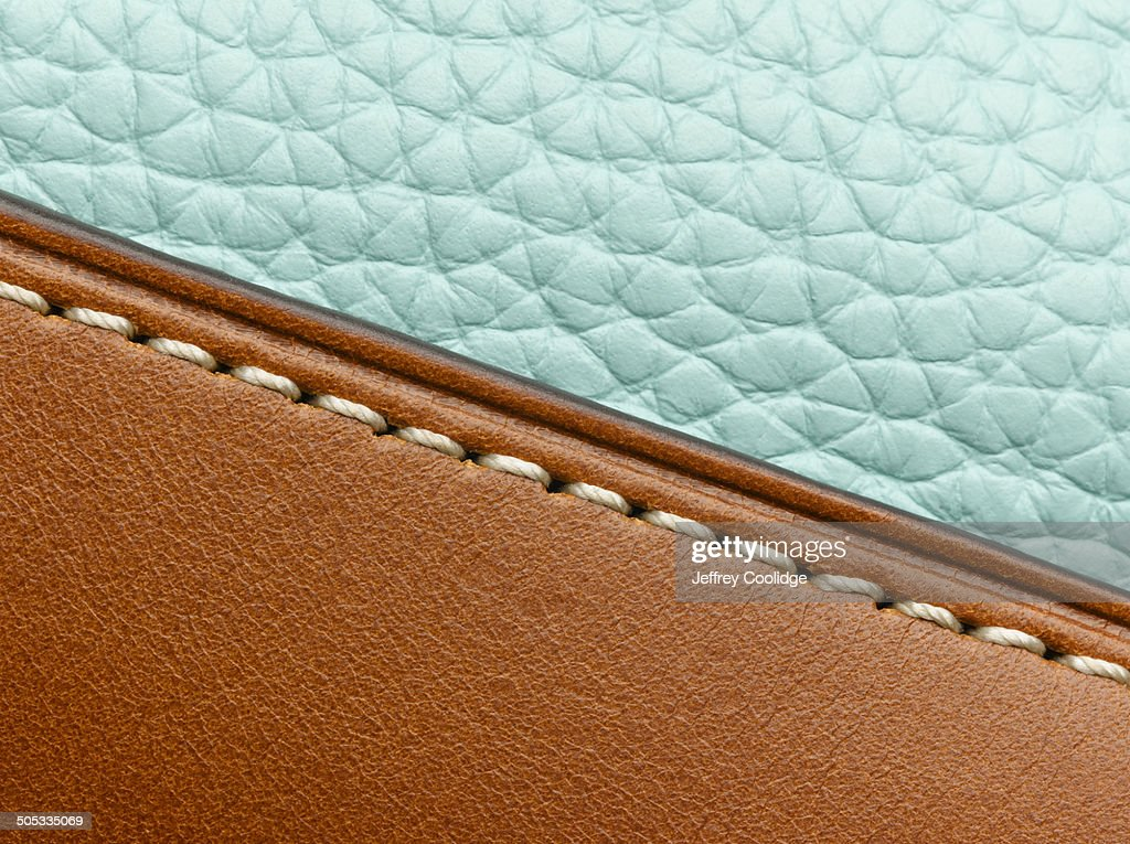 Detail on Leather Purse : Stock Photo