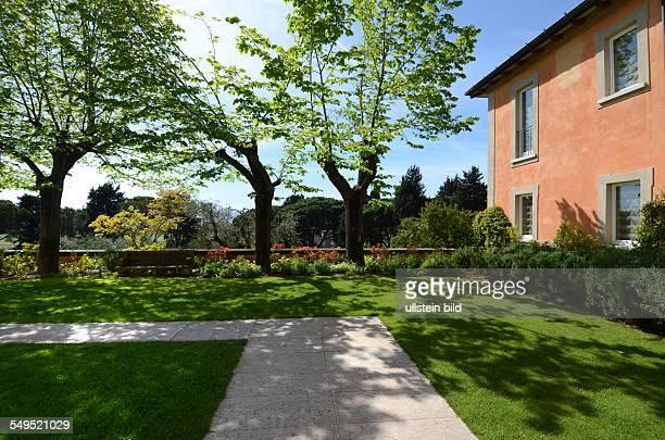 Detail Parkanlage Hotel L'Andana Maremma Toskana Italien Platanen Fruehling