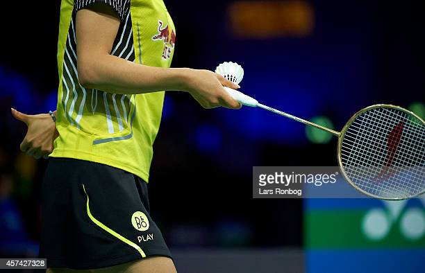 Detail photo Chen Xu and Jin Ma of China giving signs in the semifinals durng the Yonex Denmark Open MetLife BWF World Superseries at Odense...
