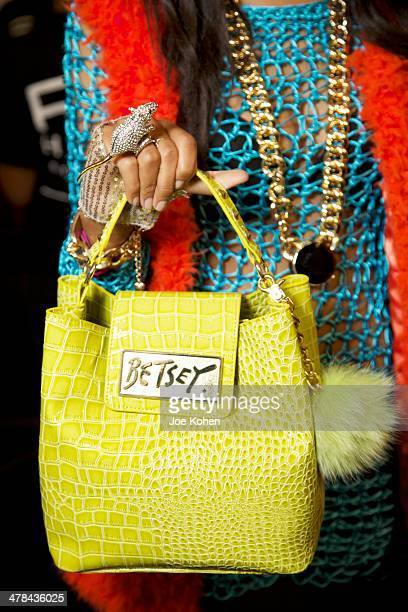 A detail photo of Betsey Johnson handbag photographed backstage during Style Fashion Week Day 4 at LA Live Event Deck on March 12 2014 in Los Angeles...