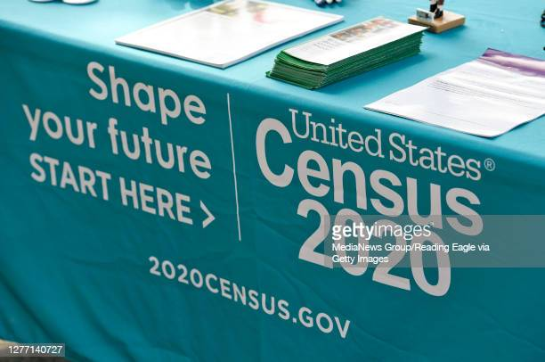 Detail photo of the information table for the 2020 Census. Outside the 3rd and Spruce Recreation Center in Reading Friday afternoon September 25,...