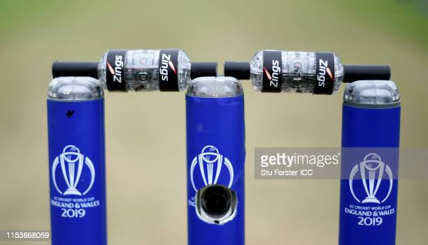 Detail picture of the Zings bails during the Group Stage match of the ICC Cricket World Cup 2019 between Afghanstan and Sri Lanka at Cardiff Wales...