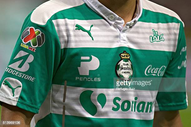 ac5fec6b5 Detail Santos  jersey during the 9th round match between Atlas and Santos  Laguna as part
