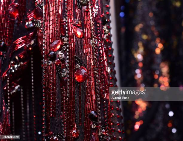 Detail shot Backstage at The Blonds Runway show at Spring Studios on February 13 2018 in New York City