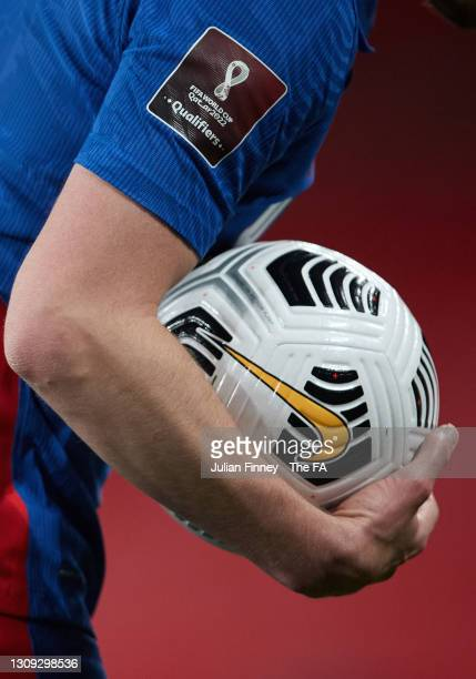 Detail shot during the FIFA World Cup 2022 Qatar qualifying match between England and San Marino on March 25, 2021 in London, England. Sporting...