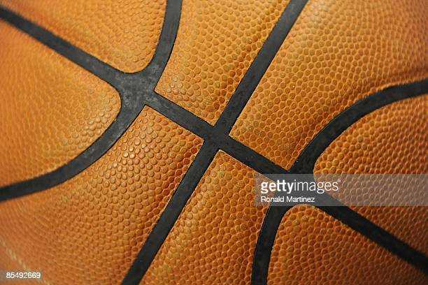 A detail shot of a basketball during play between the Detroit Pistons and the Dallas Mavericks on March 17 2009 at American Airlines Center in Dallas...