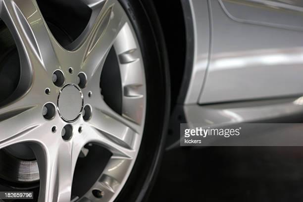 Detail shot of alloy wheel