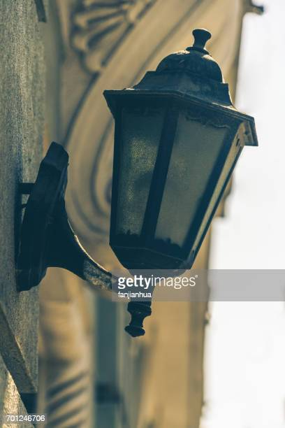 detail shot of antique Street lamp