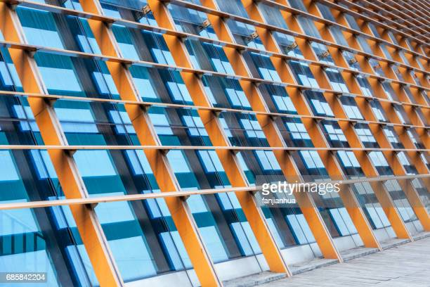detail shot of modern architecture facade