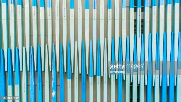 detail shot of modern architecture facade - imbalance stock pictures, royalty-free photos & images