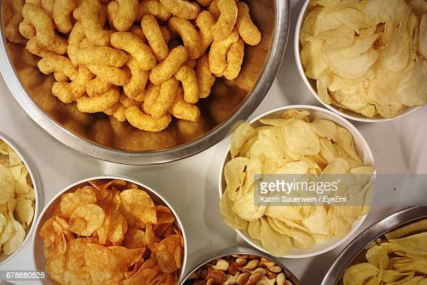 detail shot of snacks - cracker snack stock photos and pictures