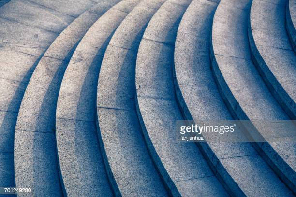 detail shot of stone stairs in blue tone - wall building feature stock pictures, royalty-free photos & images