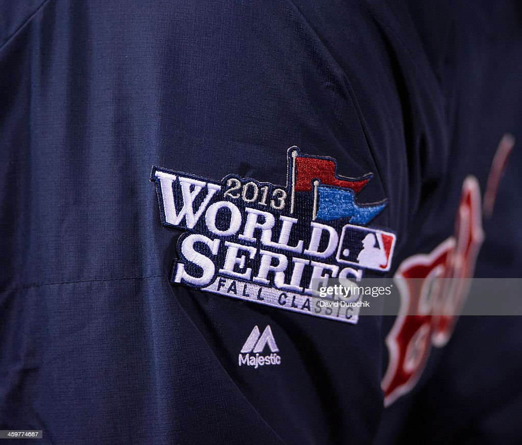 A detail shot of the 2013 World Series patch is seen on the sleeve ... 05db903cca9