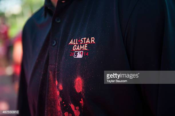 A detail shot of the 2014 MLB AllStar logo during the Color Run MLB AllStar Game 5K presented by Nike at the Minnesota State Fairgrounds on Sunday...