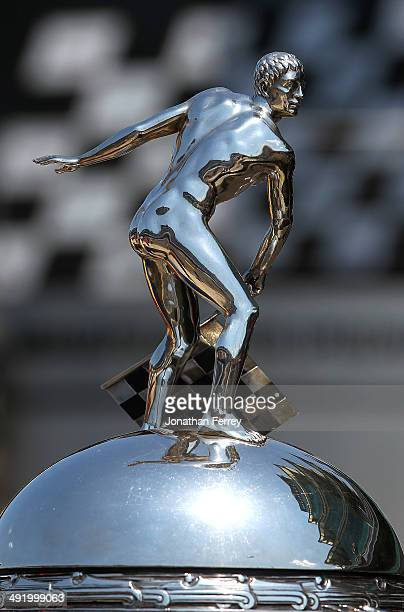 A detail shot of the Borg Warner Trophy during qualifying for the 98th Indianapolis 500 Mile Race on May 18 2014 at the Indianapolis Motor Speedway...