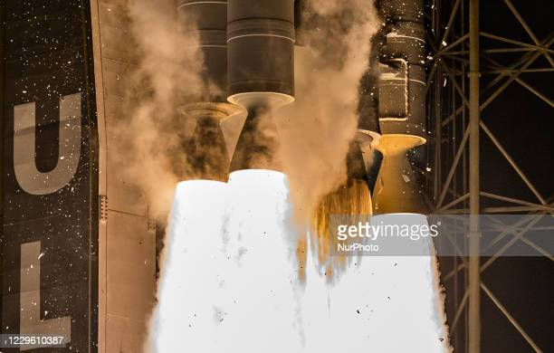 Detail shot of the engines of the Atlas V rocket during liftoff from Launch Pad 41 for its NROL 101 classified Mission (Photo by Manuel...