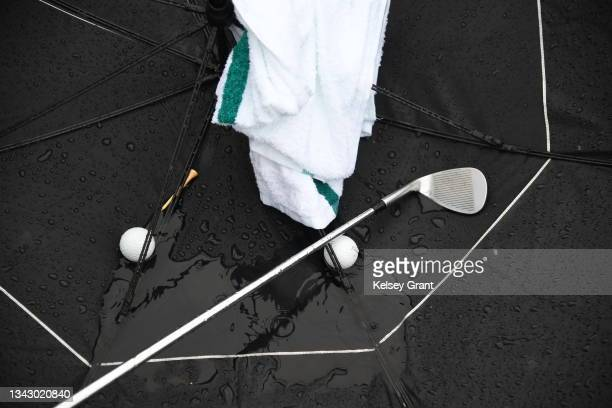 Detail shot of the rain during the 2021 Drive, Chip and Putt Regional Qualifier at TPC Scottsdale on September 26, 2021 in Scottsdale, Arizona.