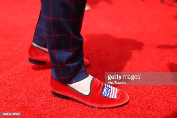 A detail shot of the shoes of Bryce Harper of the Washington Nationals during the MLB Red Carpet Show at Nationals Park on Tuesday July 17 2018 in...