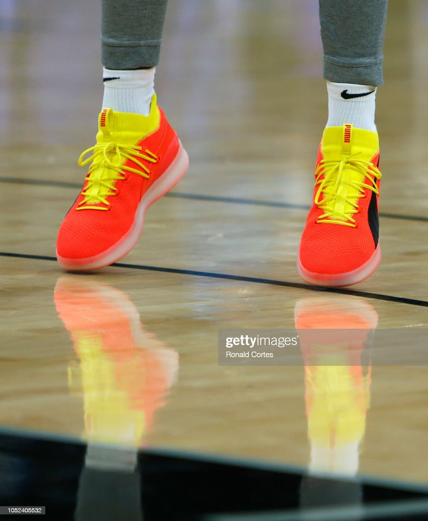 e6df5d9de63 Detail shot of the shoes of Rudy Gay of the San Antonio Spurs before ...