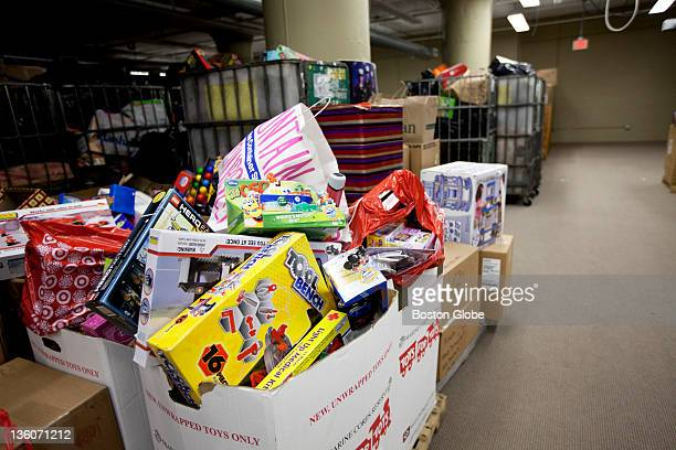 A detail shot of toys that arrived today Toys for Tots HQ photos at 21 Drydock Ave in Boston Mass on Monday Dec 19 2011