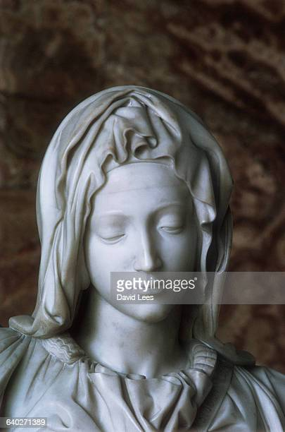 Detail Showing the Virgin Mary's Face from Pieta by Michelangelo Buonarroti