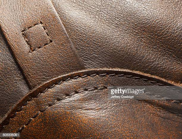 Detail stitching on leather