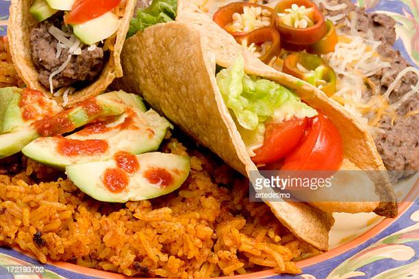 detail taco plate - mexican fiesta stock pictures, royalty-free photos & images