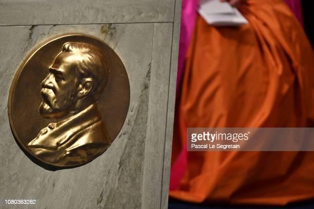 Detail view during the Nobel Prize Awards Ceremony at Concert Hall on December 10 2018 in Stockholm Sweden