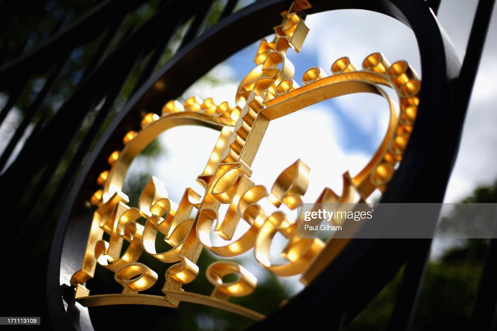 A detail view of a gate during day five of Royal Ascot at Ascot Racecourse on June 22, 2013 in Ascot, England.