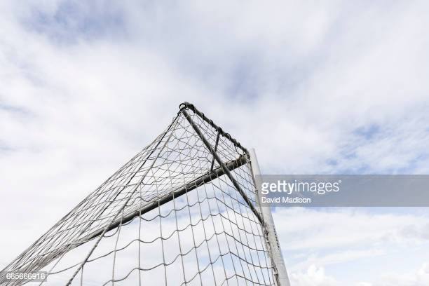 A detail view of a goal at the soccer training field at Avaya Stadium where the United States Men's National Team trained before a FIFA 2018 World...