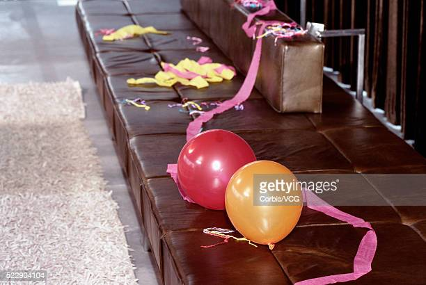 detail view of a messy room after a big party - messy house after party stock pictures, royalty-free photos & images