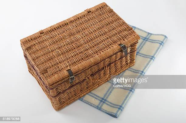 Detail view of a picnic basket