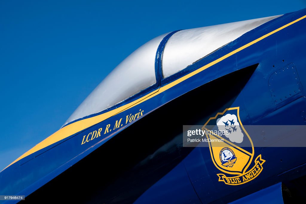 A detail view of a retired Blue Angels F/A-18 Hornet during a tour of the Navy-Marine Corps Memorial Stadium, the site of the 2018 Coors Light NHL Sadium Series game between the Toronto Maple Leafs and Washington Capitals, on February 13, 2018 in Annapolis, Maryland.
