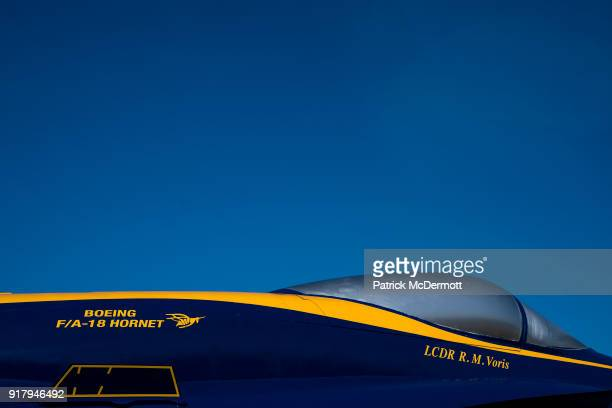 A detail view of a retired Blue Angels F/A18 Hornet during a tour of the NavyMarine Corps Memorial Stadium the site of the 2018 Coors Light NHL...
