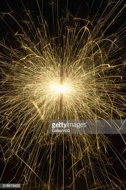 Detail view of a sparkler