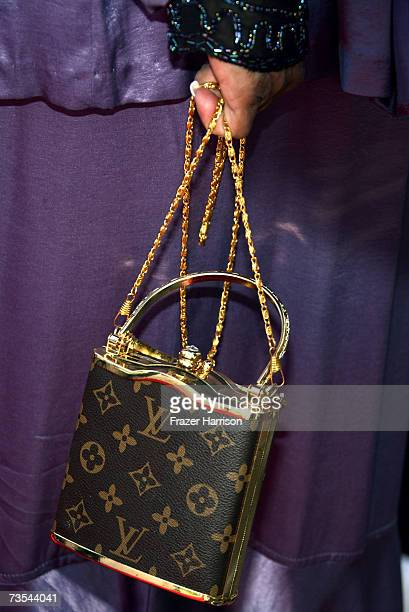 A detail view of actress Irene Mama Stokes handbag is seen as she arrives at the 21st Annual Soul Train Music Awards held at the Pasadena Civic...