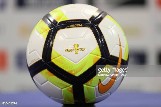Detail View of an official Nike Ordem Gold Cup match ball prior to the 2017 CONCACAF Gold Cup Group A match between French Guiana and Canada at Red...