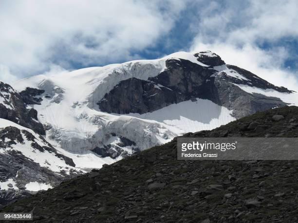 detail view of belvedere glacier, monte rosa, anzasca valley - monte rosa foto e immagini stock