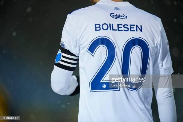 Detail view of captain Nicolai Boilesen of FC Copenhagen and his arms band during the Danish Alka Superliga match between Hobro IK and FC Copenhagen...