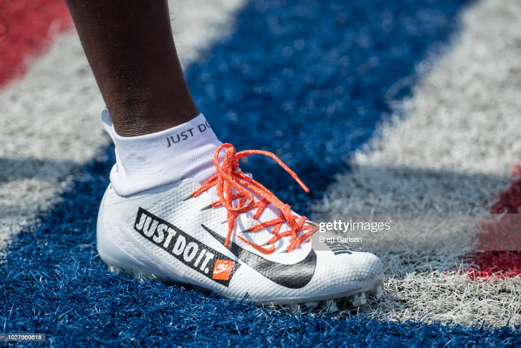 1d45fababc7 Detail view of custom Nike Football Cleats worn by Dre Kirkpatrick ...