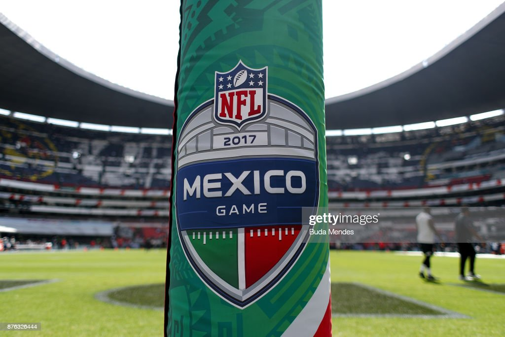 A detail view of Estadio Azteca prior to the game between the New England Patriots and the Oakland Raiders on November 19, 2017 in Mexico City, Mexico.