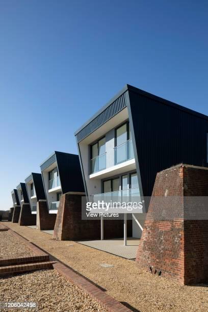 Detail view of housing. Priddys Hard, Gosport, United Kingdom. Architect: John Pardey Architects, 2019.