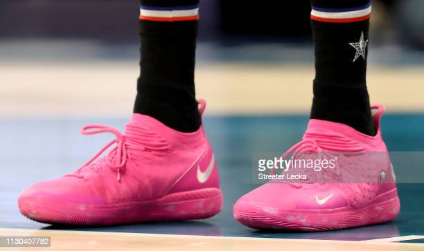 A detail view of Kevin Durant of the Golden State Warriors and Team LeBron shoe during the NBA AllStar game as part of the 2019 NBA AllStar Weekend...
