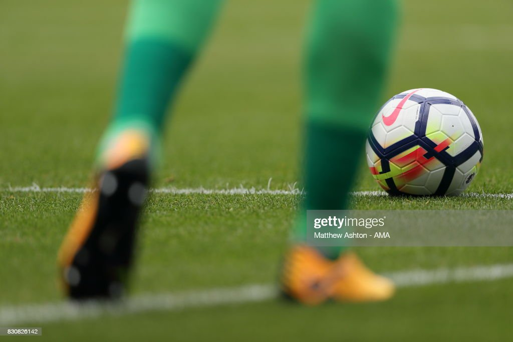 Detail view of Nike ball and football boots during the Premier League match between West Bromwich Albion and AFC Bournemouth at The Hawthorns on August 12, 2017 in West Bromwich, England.