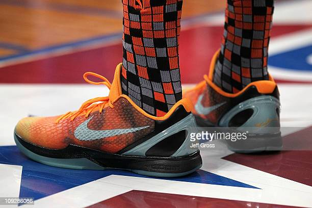 A detail view of Nike shoes during the TMobile Rookie Challenge and Youth  Jam at Staples