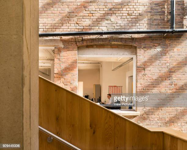 Detail view of stairs. The Foundry, Social Justice Centre, London, United Kingdom. Architect: Architecture00, 2015.
