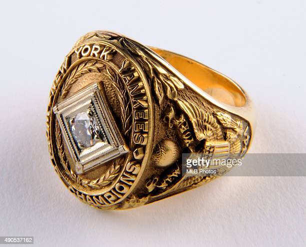 A detail view of the 1941 New York Yankees World Series Ring