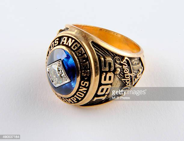 A detail view of the 1965 Los Angeles Dodgers World Series Ring