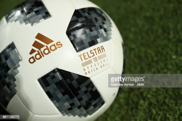 Detail View of the adidas Telstar 18 official match ball during the FIFA Club World Cup UAE 2017 play off match between Al Jazira and Auckland City...
